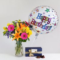 Happy Birthday Gift Set flowers