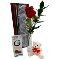 Single Red Rose Deluxe Gift Set