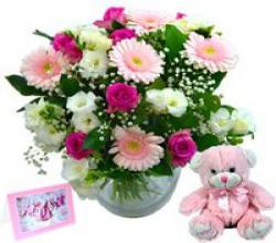 Baby Girl Flower Gift Set